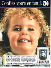 PUBLICITE ADVERTISING 104  1989  BA  yaourt au bifidus actif pour votre enfant