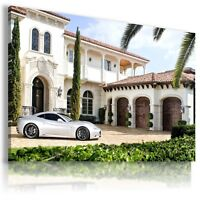 FERRARI CALIFORNIA WHITE  Sport Car Large Wall Canvas Picture ART AU437  MATAGA
