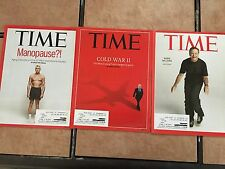 (3) TIME MAGAZINES, Robin Williams - Cold War II - Manopause #'s 5 6 & 7 - 2014