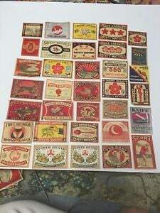 Lot # 245 Japan / China Matchbox Mostly Packet Labels C. 100 Years Old