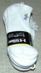 ~6 NEW Men's UNDER ARMOUR No-Show Performance Socks! Size L 9-12.5 Nice!