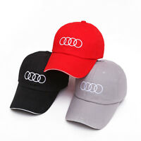 bdccb52dfe0 NEW Cap Baseball Stylish Hat Audi Car Adults Golf Embroidery Black Red  Snapback