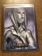 Jocasta 2012 UD Avengers Assemble Movie Sketch Card by Lawrence Reynolds 1/1