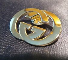 NEW Goldtone GUCCI Staff Brooch Lapel Pin for Bag Badge Logo Designer Jewelry