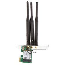 Desktop PCI-E Wireless Card 300M Dual-Band 2.4/5GHz+3 Antenna For Intel 4965AGN
