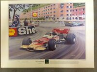 Jochen Rindt, Lotus 49C, Jack Brabham, Monaco Grand Prix, Limited edition print