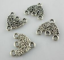 20pcs Tibetan silver 1-3 Hole Earring Connectors Charms 15*16mm