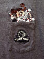 Vtg TAZ Tasmanian Devil T Shirt BOWLING Up your Alley Warner Bros Store XL
