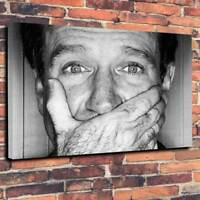 "Robin Williams Printed Box Canvas Wall Art Picture A1.30""x20""~Deep 30mm Frame"