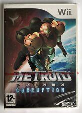 Nintendo Wii Metroid Prime 3: Korruption, UK PAL NEU & Nintendo Factory Sealed