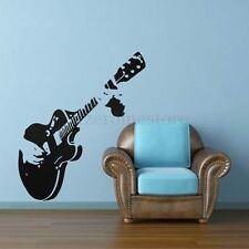 Gitarre Wandtattoo Wandaufkleber Musik Guitar Kunst Sticker Kinderzimmer Deko