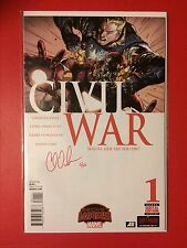 Civil War #1 DF Limited Red Signature Series By Charles Soule 5/25