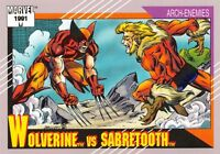 WOLVERINE VS. SABRETOOTH / Marvel Universe Series 2 (Impel 1991) BASE Card #93
