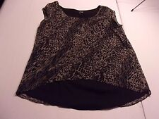 The Addison Story Medium Cap Sleeve Abstract Leopard Print Blouse Top