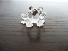"Swarovski   Small   Frog  Height  23mm  (just over 3/4"")  Swan  Logo (Retired)"