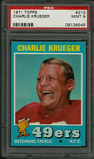 1971 TOPPS #213 CHARLIE KRUEGER PSA 9 MINT POP 8 SAN FRANCISCO 49ERS FOOTBALL