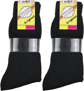 20 Paar Herren Tennis Sport Socken schwarz 90% BW WOW