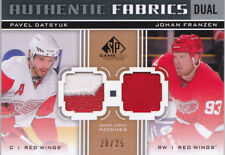 11-12 SP Game Used Pavel Datsyuk Franzen /25 Patch Fabrics Dual Red Wings 2011
