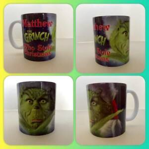 personalised mug cup merry Christmas secret gift Santa the Grinch grumpy max :)