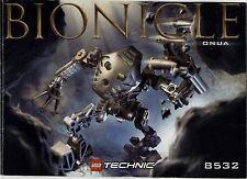 Lego Bionicle # 8532 Onua - Bauanleitung (keine Steine!)