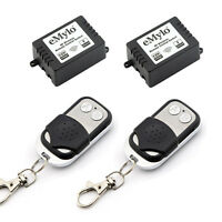DC 12V 2X1CH Wireless RF Remote Control Switch Self-locking Two Transmitter