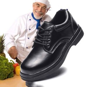 Men's Kitchen Labor Insurance Chef Shoes Waterproof Oil-proof Steel Toe Non-slip