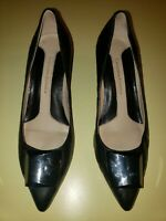 Carolina Espinosa Women's Black Pumps Embossed leather Size 7.5
