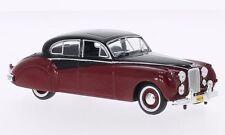 Whitebox WB131 Jaguar MKVII 1954 Burgundy/Black 1/43rd Scale Model In Case T48Po