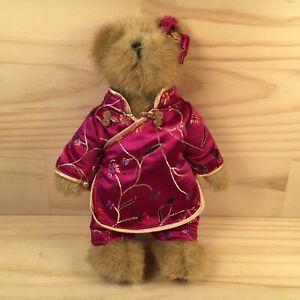 """BOYDS """"China Bear"""" Gorgeous Little Faux Fur Teddy Bear Cuddly Soft Toy Friend"""