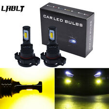 5202 PS24WFF LED Fog Light Bulbs CSP 3570-Chips 70W 8000LM 3000K Gold Yellow