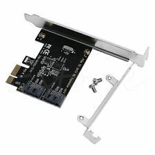 PCIe PCI Express a SATA 3.0 2 Puertos Sata Tarjeta Adaptador 6G Controlador de expansión III
