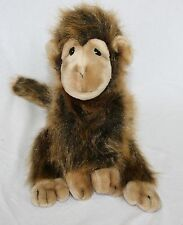 "14"" Ty Beanie Buddies Cha Cha Monkey Golden Brown Plush Stuffed Animal Toy"