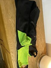 Musdy Fox Mens XL Padded Cycling Leggings Black With Flurescent Green