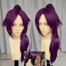 Bleach Shihouin Yoruichi 60cm Purple Lolita Cosplay Party Wig / Ponytail