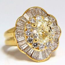 GIA Certified 4.51ct Natural Yellow Diamond Ring 18Kt Ballerina Prime