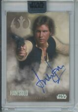 2020 Topps Star Wars STELLAR Harrison Ford BASE AUTO #18/40 Han Solo signed