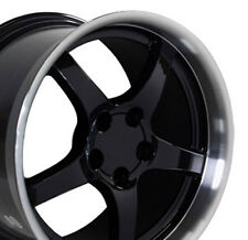 17x9.5 18x10.5 Black Corvette C5 Style Deep Wheels Set of 4 Rims Fit Camaro CP