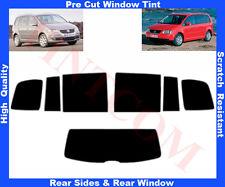 Pre Cut Window Tint VW Touran 5D 2002-2009 Rear Window & Rear Sides Any Shade