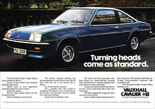 VAUXHALL CAVALIER COUPE RETRO A3 POSTER PRINT FROM 70's ADVERT