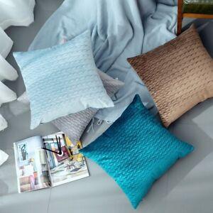 2x Velvet Textured Cushion Cover Wrinkled Throw Pillow Case Sofa Pillowcase Home