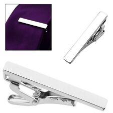Stylish Simple Silver Tone Men Metal Necktie Tie Bar Clasp Clip Clamp Pin