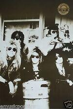 "GUNS N' ROSES ""KEGGER"" POSTER FROM ASIA - Axl Rose, Slash & Band Behind Beer Keg"
