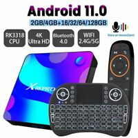 Android 11 TV BOX 2.4G 5.8G Wifi 32G 64G 128G 4k 3D Bluetooth Media player HDR