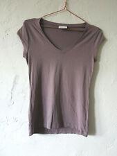 Bruuns Bazaar T-Shirt Ladies S Purple Stretch V Neck Top Scandinavian Basic