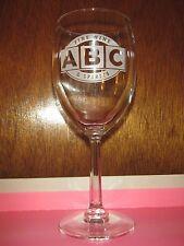 (1) ABC Fine Wine & Spirits Liquor Store Logo Clear Wine Glass Florida