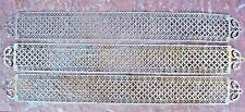 Trois grandes plaques de propreté en dentelle de métal (inox?) 19 ème ème 52 cm