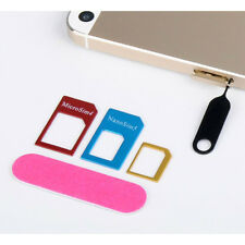 Nano SIM Card to Micro Standard SIM Adapter Converter Set for All Phones 6 in 1