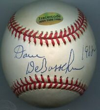 DAVE DeBUSSCHERE  Signed Baseball 1963 White Sox  NBA HOF PSA/DNA Authenticated