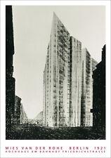 van der Rohe Berlin Hochhaus Friedrichstrasse Poster Kunstdruck Bild 100x70cm