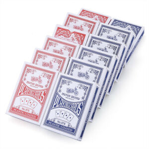 Poker Playing Card Decks Cards US Standard Coated Blue Red Classic Magic Tricks